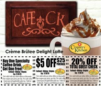 Crème Brûlee Delight Latte