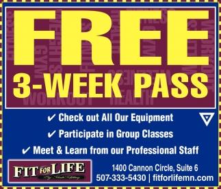 FREE 3 - WEEK PASS