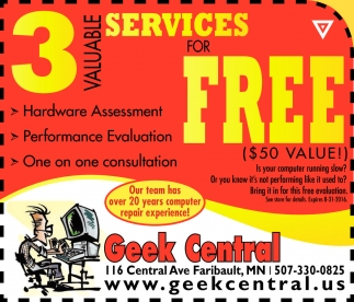 3 VALUABLE SERVICES FOR FREE