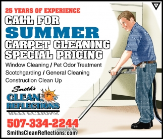 CALL FOR SUMMER CARPET CLEANING SPECIAL PRICING