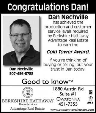 Congratulations Dan!