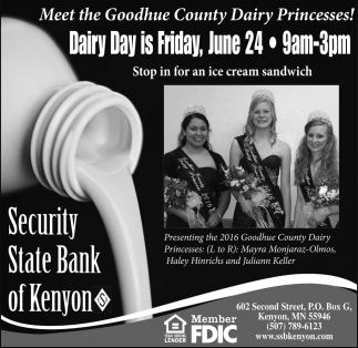 Meet the Goodhue County Dairy Princesses!