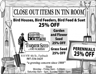 ALL PERENNIALS 25% OFF