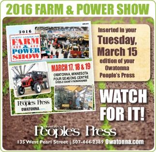 2016 FARM & POWER SHOW