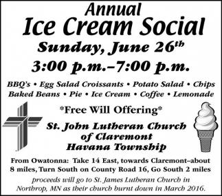 Sunday, June 26th