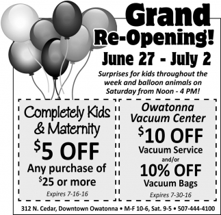 Grand Re-Opening!