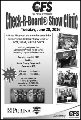 Check-R-Board Show Clinic