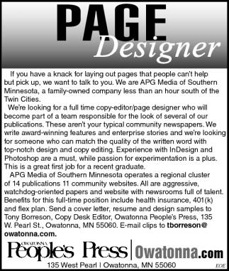 PAGE Designer