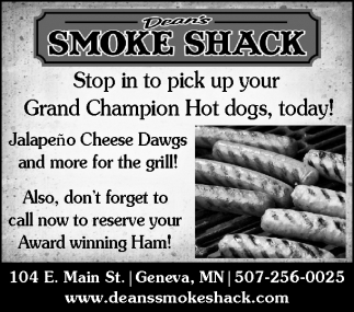 Stop in to pick up your Grand Champion Hot dogs, today!