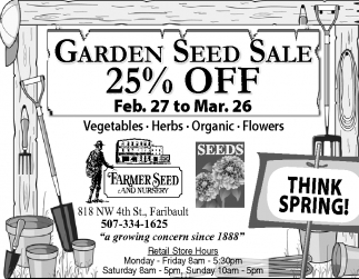 Garden Seed Sale