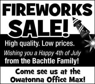 FIREWORKS SALE!