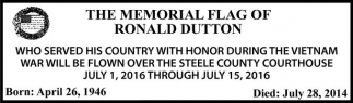 THE MEMORIAL FLAG OF RONALD DUTTON