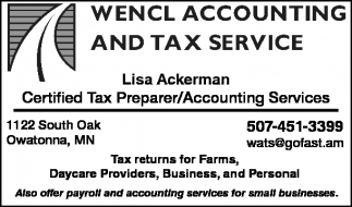Lisa Ackerman - Certified Tax Preparer/Accounting Services