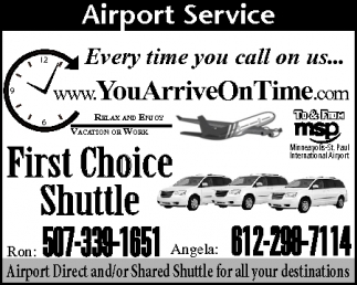 Ads For You Arrive On Time in Southern Minn