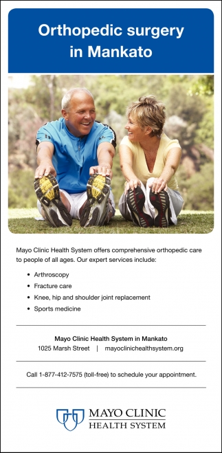 Orthopedic surgery in Mankato, Mayo Clinic Health System