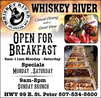 Ads For Whiskey River Emporium in Southern Minn