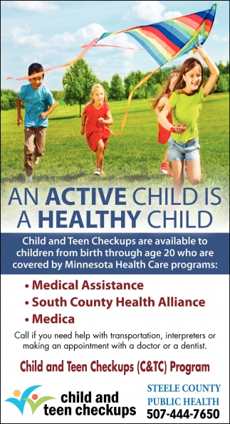 AN ACTIVE CHILD IS A HEALTHY CHILD