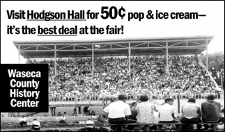 Visit Hodgson Hall for 50¢ pop and ice cream