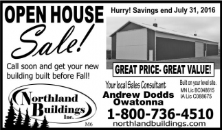 OPEN HOUSE Sale!
