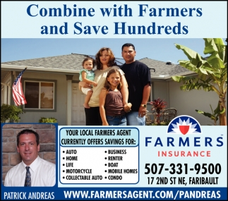 Combine with Farmers and Save Hundreds
