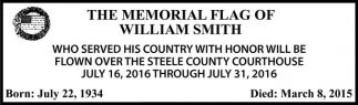 THE MEMORIAL FLAG OF WILLIAM SMITH