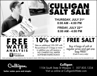 CULLIGAN SALT SALE