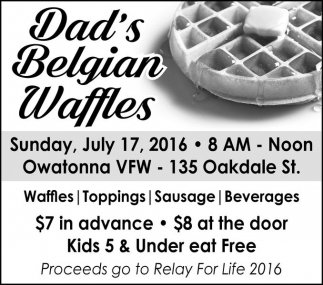 Enjoy delicious breakfast on Father's Day