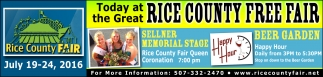 RICE COUNTY FREE FAIR