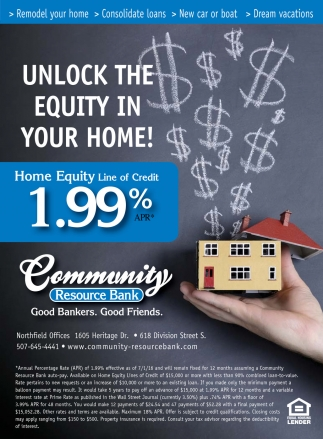 UNLOCK THE EQUITY IN YOUR HOME!