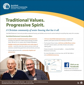 Traditional Values. Progressive Spirit.