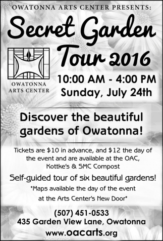 Secret Garden Tour 2016