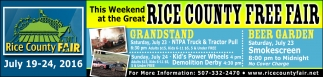 This Weekend at the Great RICE COUNTY FREE FAIR