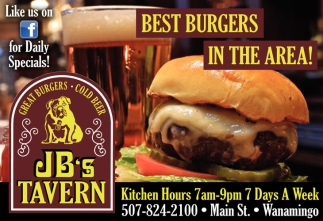 BEST BURGERS IN THE AREA!