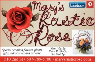 Ads For Mary's Rustic Rose in Southern Minn