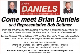 Meet Brian Daniels and Representative Bob Dettmer
