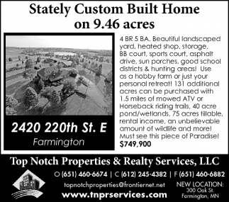 Stately Custom Built Home