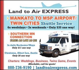 MANKATO TO MSP AIRPORT /TWIN CITIES