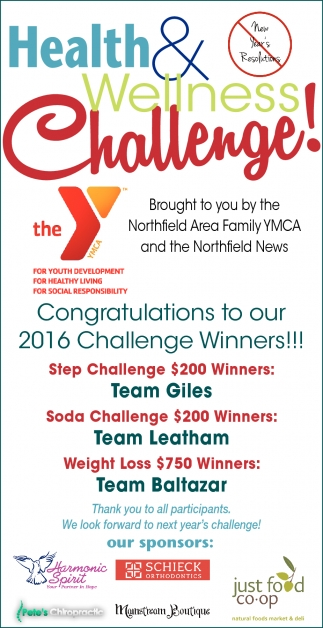 Congratulations to our 2016 Challenge Winners!!!
