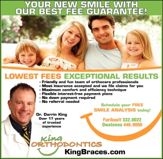 YOUR NEW SMILE WITH OUR BEST FEE GUARANTEE!