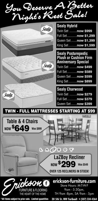 You Deserve A Better Night's Rest Sale!
