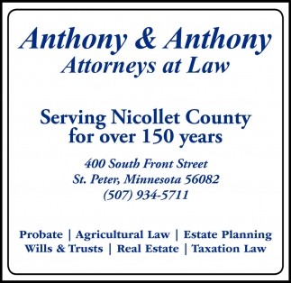 Serving Nicollet County for over 150 years