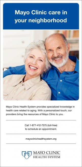 Mayo Clinic care in your neighborhood