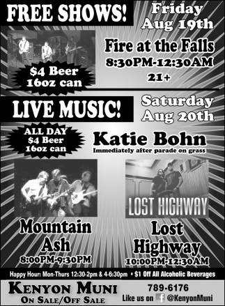 FREE SHOWS! LIVE MUSIC!