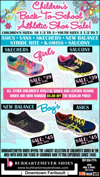 Children's Back to School Athletic Shoe Sale!