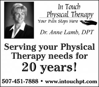 Serving your Physical Therapy needs for 20 years!