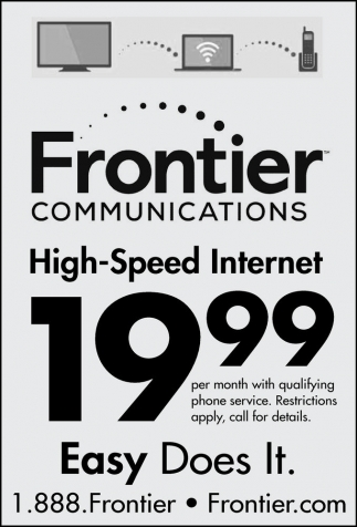 Ads For Frontier Communications in Southern Minn