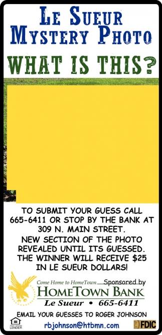 Le Sueur Mystery Photo