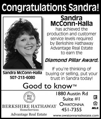 Congratulations Sandra!