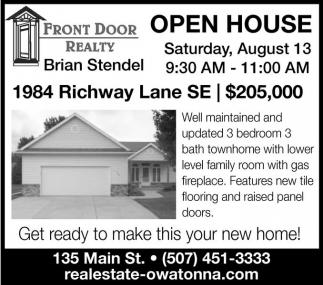 Ads For Front Door Realty in Owatonna MN  sc 1 st  Marketplace of Southern Minn & Brian Stendel Front Door Realty Owatonna MN