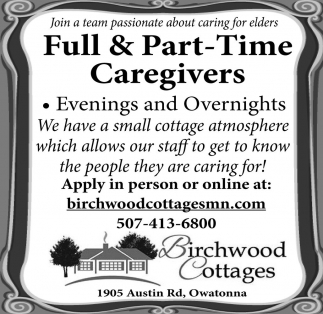 Full and Part.Time Caregivers